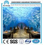 カスタマイズされたサイズのアクリルのパネルと使用されるアクアリウムのレストランの海洋博物館のレストランの主題のレストラン