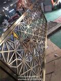 Panneau de mur intérieur décoratif d'écran en métal de coupure de laser d'acier inoxydable