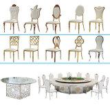 Da elegância nova por atacado do projeto de China cadeira elevada da sala de jantar do aço inoxidável de couro traseiro