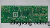 4 capas PCB Hal con la máscara de soldadura Verde
