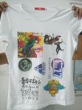 6カラー経済的なTシャツの印字機