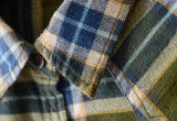 方法長い袖の小切手のフランネルの女性のワイシャツ