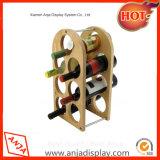Botella de metal alambre Vino soporte de exhibición del vino muebles rack