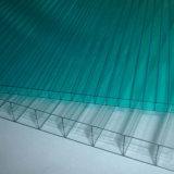 Folha transparente da folha da cavidade do policarbonato de quatro paredes para a telhadura