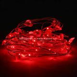 Управляемая батарея делает 50 светов водостотьким светляка медного провода сердца 16.4FT светов шнура СИД красных