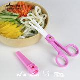 """2 """" tesouras cerâmicas do comida para bebé com bainha e caso plástico"""