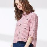 Chemise femme imprimée à rayures féminines