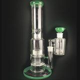 Vidrio pesado grueso alto de cristal de cristal del tubo de agua de los tubos que fuman con el colector y el tazón de fuente de la ceniza