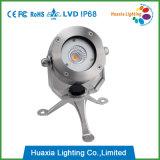 316ss IP68 LED bajo el agua de la fuente del punto de luz