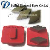 Концы инструментов трудного конкретного каменного этапа косоугольника грубого помола поверхности пола меля