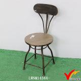 Ретро изготовленный на заказ деревянные табуретки круглой штанги металла