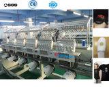 Máquina industrial plana automatizada 6 pistas del bordado de la máquina del bordado del casquillo con 10 pulgadas de pantalla táctil