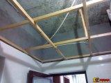 Установка панели потолка PVC
