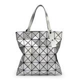 Madame rhombique géométrique argentée Handbag (A040) d'unité centrale