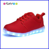 Zapatos de carga luminosos de las luces del USB del LED
