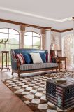 새로운 디자인 단단한 나무 가구 미국 시골풍 거실 가죽 소파 (AD1001)