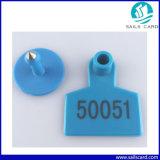 50X42mm ganado etiqueta de oído de plástico para ovejas cabra Pig Managemnt
