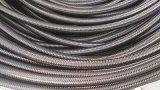 A matéria têxtil da trança do fio de aço cobriu a fábrica de borracha da mangueira R5 de transferência do petróleo