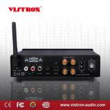 Mini amplificador de potencia estéreo de alta fidelidad de Subwoofer del canal del amplificador audio 2.1 de Bluetooth con 2 x 50 vatios, (3.5m m) conector entrado aux. Gato