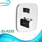 Stanza da bagno quadrata che misura il miscelatore dell'acquazzone della valvola termostatica con il separatore