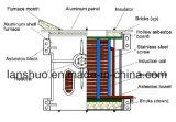 four de fonte à fréquence moyenne de fer d'admission de 750kg Kgps