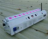 Iluminación con pilas de la colada de la radio DMX 5in1 LED de la alta calidad