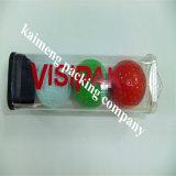 Cilindros quadrados plásticos fortes do espaço livre da alta qualidade de China para o pacote das esferas com 2 tampões