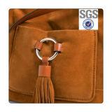 Projeto simples & clássico da bolsa do couro da camurça do falso da forma