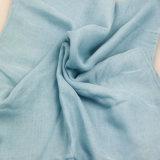 Sciarpa blu-chiaro del voile, sciarpa 100%Polyester per le donne, scialli dell'accessorio di modo