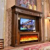 Chimenea eléctrica europea del MDF de la escultura del soporte de los muebles TV del hotel (326B)