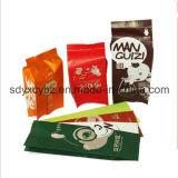 Подгонянный размером бортовой полиэтиленовый пакет бумаги Kraft Gusset для еды