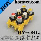 RCA Socket/RCA 잭 (HY-RCA-813)가 RCA에 의하여 Connector/8 구멍을 판다