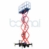 El móvil del acero de manganeso Scissor la elevación (altura máxima los 9m de la plataforma)