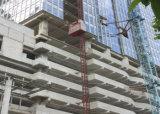 лифт подъема конструкции клетки 100m одиночный, сталь гальванизировал материал