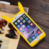 iPhone 7 Pikachu 형식 3D 연약한 실리콘 묵 상자 덮개