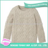 Camisola Hand Knitted do Crochet da fantasia das senhoras da forma de lãs