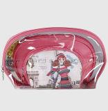 Reeks van de Zak van de Reis van de Make-up van pvc van de bevordering personaliseerde de Schoonheid Afgedrukte Duidelijke Kosmetische Zak