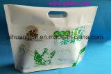 Inferior levantarse la bolsa de plástico de aluminio de empaquetado del alimento cocido de la ventana