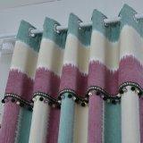 居間現代様式の縦縞のシュニールの停電のカーテン(15F0068)