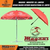 Grand parapluie de plage de publicité en acier