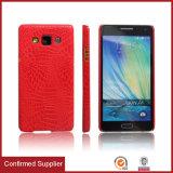 Kundenspezifisches Firmenzeichen druckte PU-Krokodil-Leder-Handy-Deckel-Kasten für Samsung-Galaxie A5 A7 A8 A9