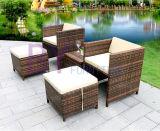 Напольная комбинация стула таблицы ротанга способа педали виллы двора балкона