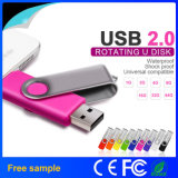 na movimentação conservada em estoque do flash do USB do giro OTG com amostra livre