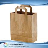 Sacchetto impaccante di acquisto di alimento della carta kraft del Brown (Xc-bgk-016)