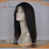 Toda la peluca llena del frente del cordón de Handtied de la Virgen del pelo humano de Remy (PPG-l-0829)