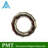 N48ネオジム材料が付いている特別な形のNdFeBの磁石(斜めシリンダー)