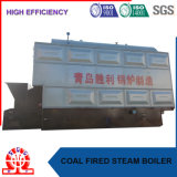 Chaudière à vapeur allumée par interpréteur de commandes interactif de charbon ou de paume et à eau chaude