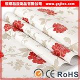 Belüftung-selbstklebende wasserdichte dekorative Material-Saflor-Tapete