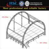 Stadiums-Binder mit Lichtbogen-Form-Dach für im Freienereignisse