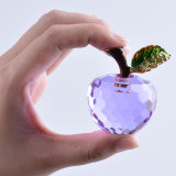 Kleines 40mm Farben-Kristallglas-Apple-Papiergewicht